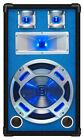 Skytec PA Disco Speaker 800 Watt DJ Equipment Blue LED Lights Music Reactive