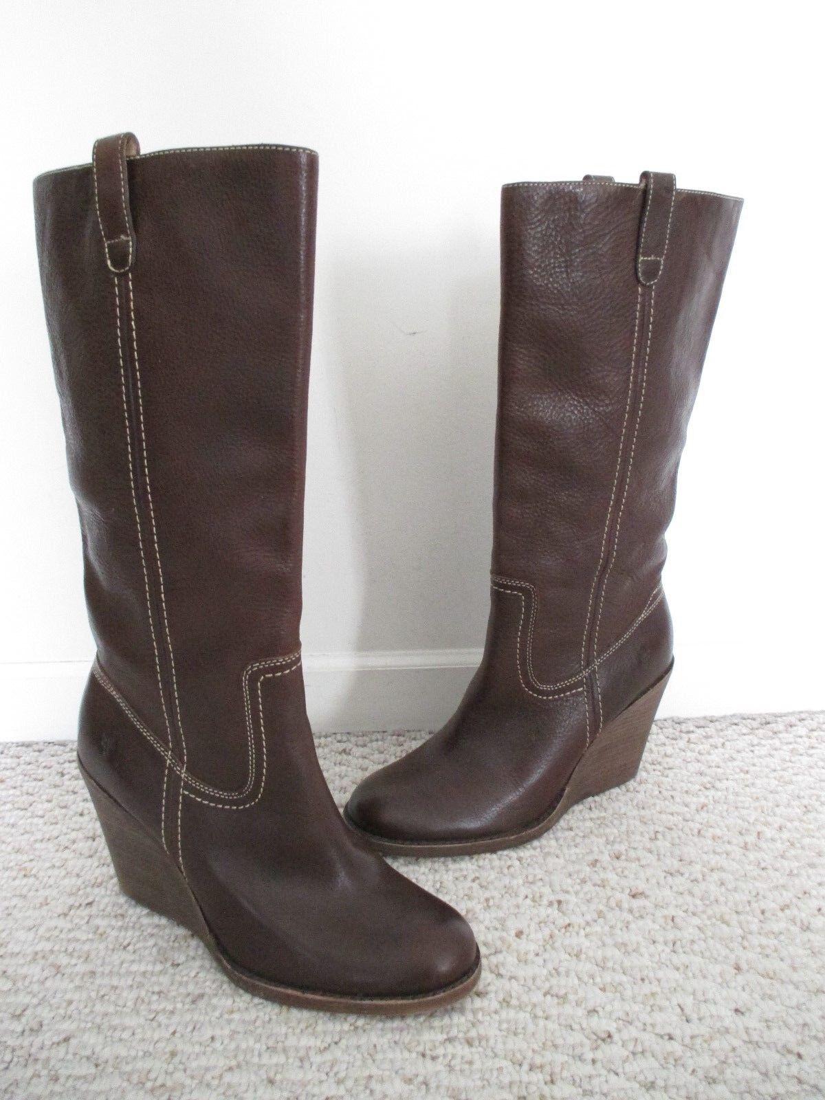 miglior reputazione FRYE Carolione Campus Marrone Leather Wedge stivali stivali stivali Dimensione 10  liquidazione