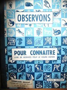 Observons-pour-connaitre-livre-de-sciences-cours-moyen-Bourrelier-1949