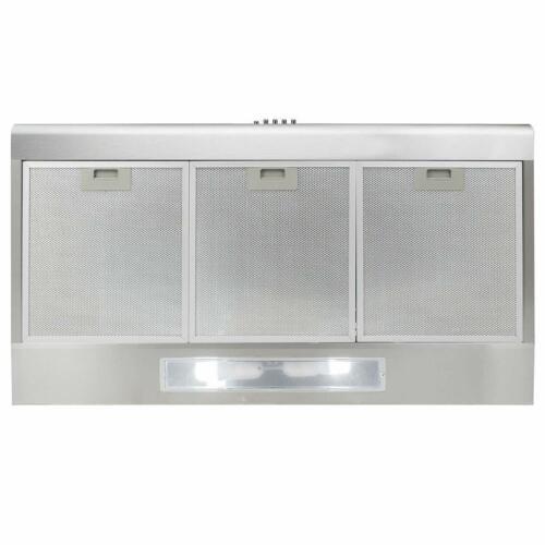 Under Cabinet Stainless Steel Range Hood Kitchen Stove Vent Light Exhaust Fan