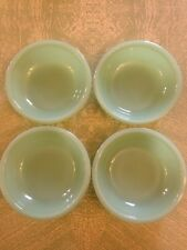 Vintage Jadite Fire King Berry Bowls Set Of Four Restaurant Ware Anchor Hocking