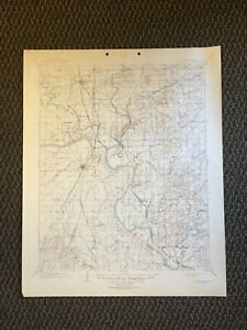 Details about Vintage USGS Muskogee Oklahoma 1901 Topographic Map 1945