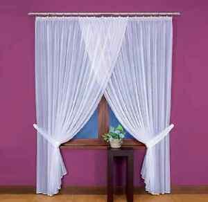 sch nes wei lang knittern voile netz vorhang startseite fenster dekoration ebay. Black Bedroom Furniture Sets. Home Design Ideas