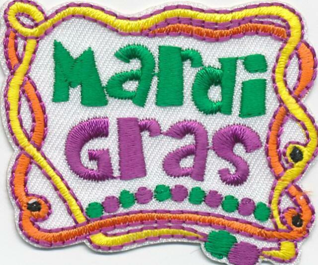 Girl Boy Cub MARDI GRAS Neckl Fun Patches Crests Badges SCOUT GUIDE party parade