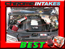 K&N+RED 02 03 04 05/2002 2003 2004 2005 AUDI A4 A6 A 4/6 3.0L V6 AIR INTAKE KIT
