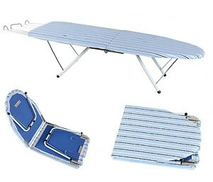 portable compact foldable folding table top ironing iron. Black Bedroom Furniture Sets. Home Design Ideas