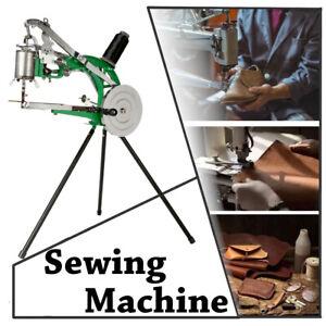 Hand Cobbler Shoe Repair Sewing Machine w/Dual Leather Cloth Cotton Nylon Thread