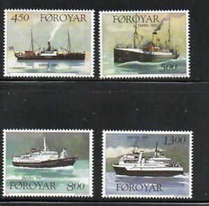 """Faroe Islands Sc 352-55 1999 Ships named  """"Smyril""""  stamp set mint NH"""
