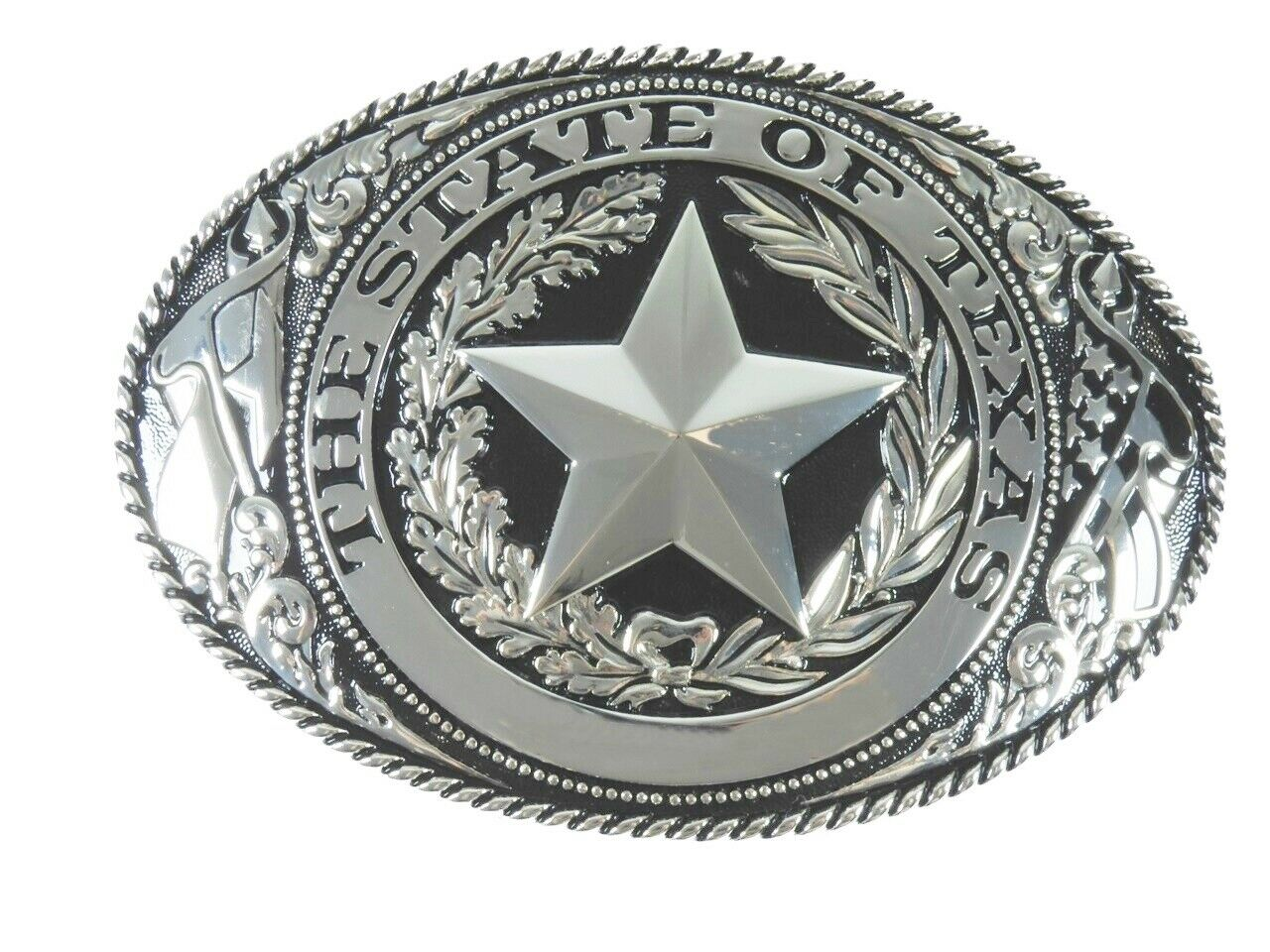XXXL Gürtelschnalle Buckle Gürtelschliesse The State of Texas für Wechselgürtel
