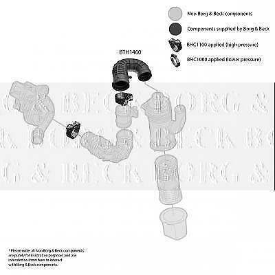 BTH1460 BORG /& BECK AIR FILTER HOSE  Left Lower Front fits Fiat Doblo 00-1.9JTD