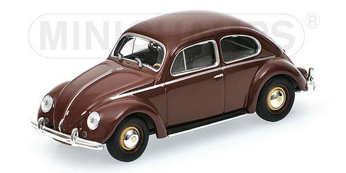 VW Beetle 1200 Marronee 1953 Minichamps 1 43  430 052106