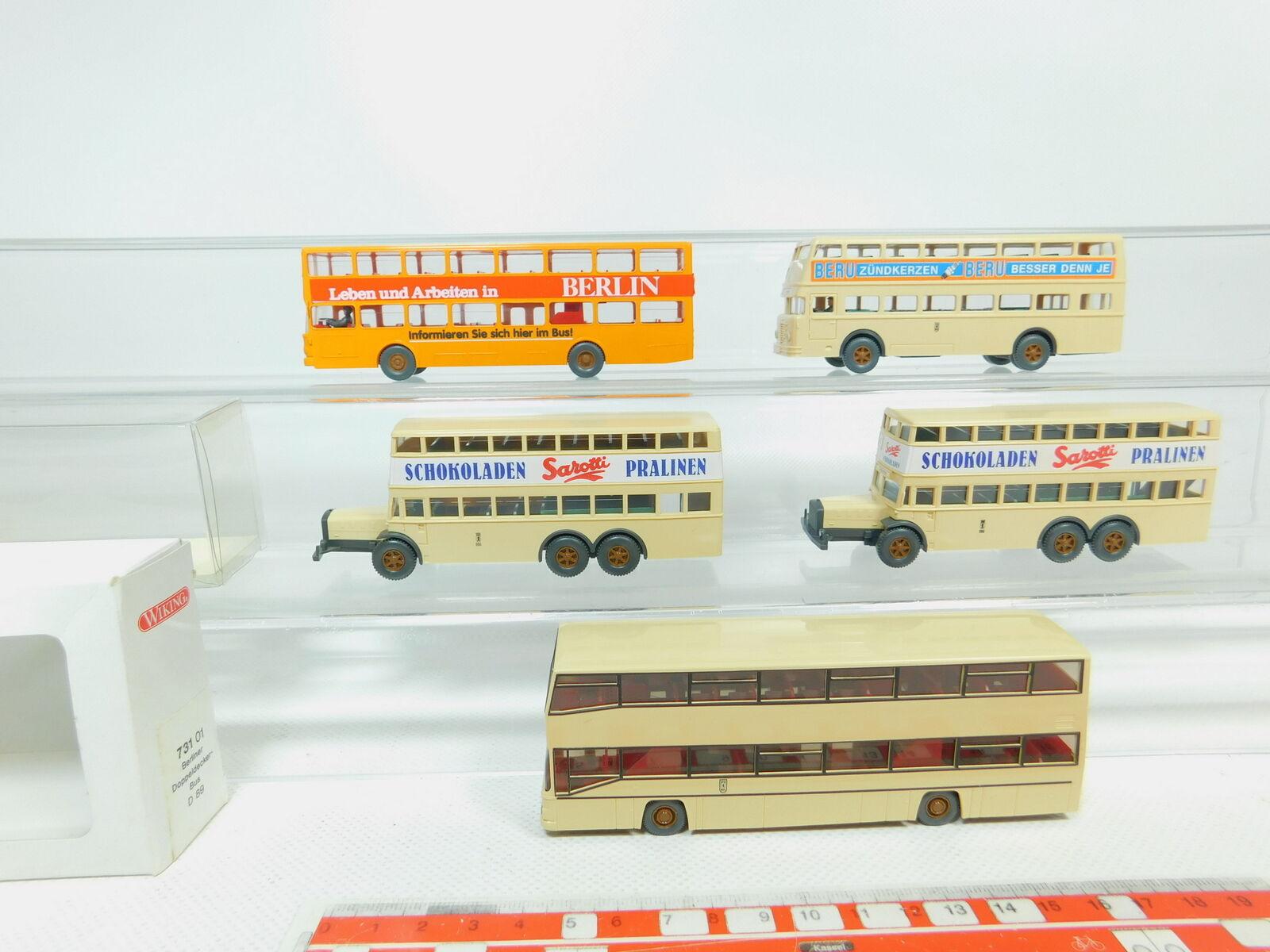 Bn114-0, 5  5x WIKING h0 1 87 Bus  873 Berlin-bus D 38+ on + Büssing +731, 2x Neuf dans sa boîte
