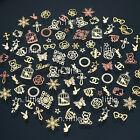 300 Pcs 3D Metal DIY Nail Art Tips Stickers Decal Golden Slices Decoration NG203