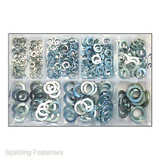 """Assorted 3/16, 1/4, 5/16, 3/8, 7/16,1/2"""" & 5/8"""" Imperial Zinc Spring Washers"""