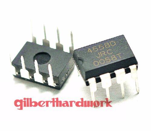 50*Jrc4558D Njm4558D Operational Amplifier Dual Way Dip-8 Straight Pin Component