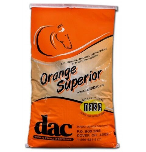 Dac® orange 40  lb REFILL BAG  Working Horses, Stallions, Broodmares Best Value  a lot of surprises