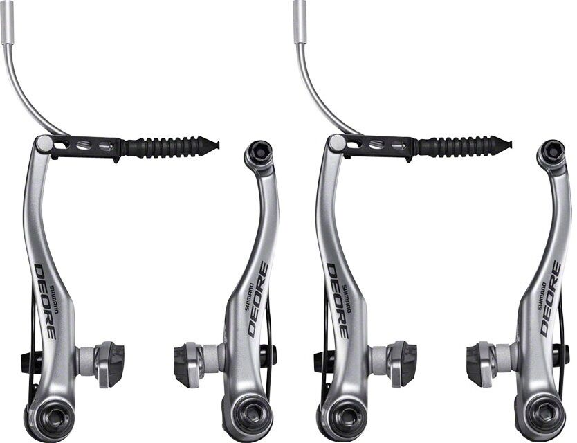 Shimano BL-T4010 Alivio V-Brake Lever Pair Front /& Rear Levers Silver inc Cables