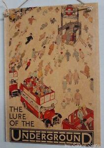 London-Underground-Vintage-Retro-Advertising-Poster-Wooden-Sign