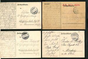 Elsass Karte Colmar.Details Zu Feldpost Wwi Vier Karten Aus Colmar Elsass Lot 4 Jk 43