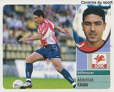 ABDELILAH FAHMI # MAROCCO LILLE LOSC VIGNETTE STICKER  PANINI FOOT 2003
