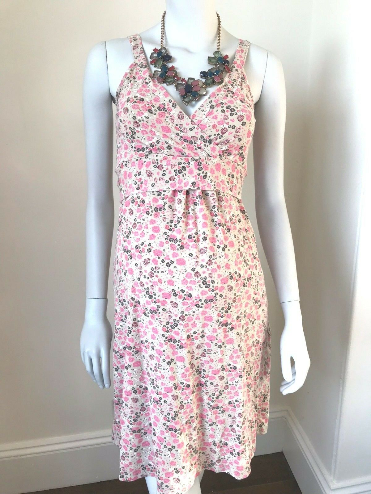BOOB DESIGN MATERNITY Dress, Strappy Pink Floral  10 (Size XS)