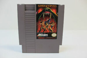 Swords and Serpents - Nintendo NES Game Authentic