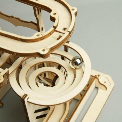 Robotime bâtiment en Bois Modèles Marble Run Jeu À faire soi-même Roue Assemblage Jouet Cadeau