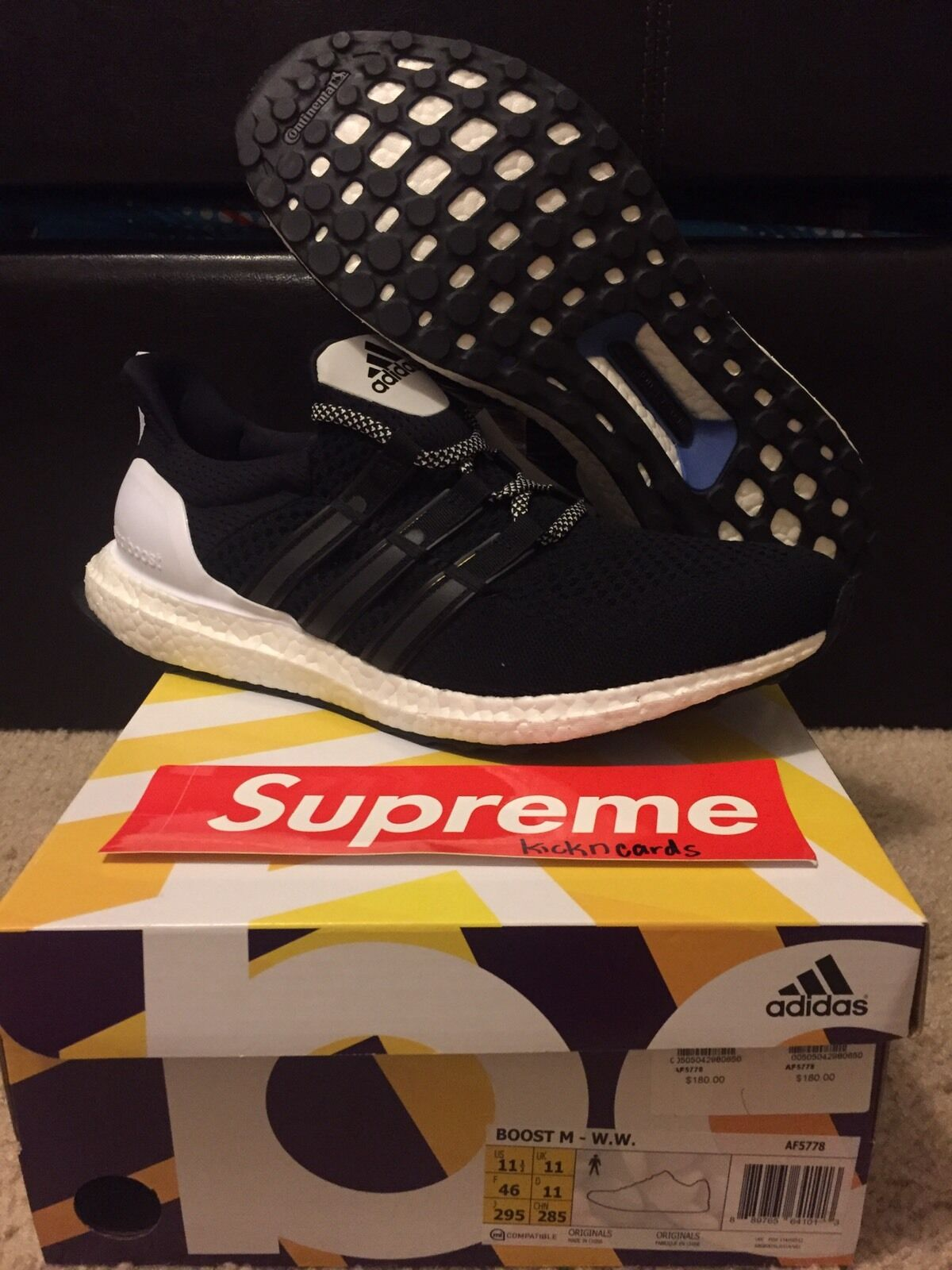 Adidas Consortium x Wood Wood Ultra Boost Size 11.5 DS Brand New RARE