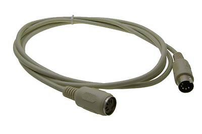 6ft//feet//foot AT//XT Keyboard 5pin DIN Male~Female Extension M~F Cable//Cord//Wire