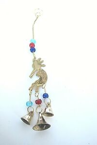 Brass-Windchimes-Wind-Chimes-with-Beads-and-Bells-Kokopelli-Flute-Player-C38