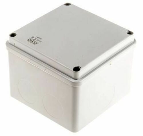 Grey 100 x 100 x 80mm Thermoplastic IP55 Junction Box