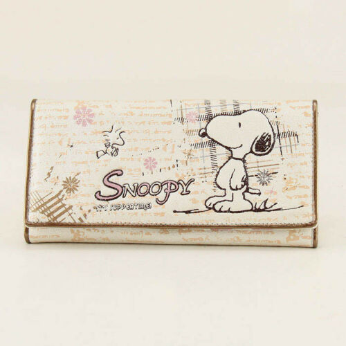 New Peanuts Snoopy PU Leather two folding Wallet Purse   free shipping