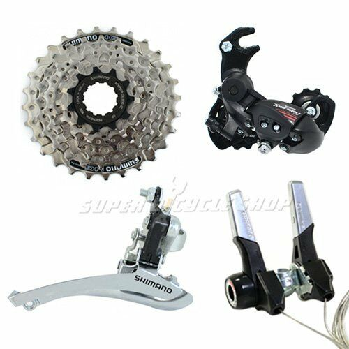 SHIMANO 3 (2) x 7 Speed Road Groupset 4 pcs,Handlebar Mount, RD W Hanger