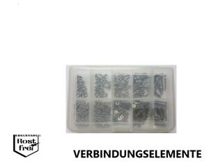 Vis Assortiment Cruciforme DIN 7985 600 pièces acier inoxydable a2 m2, 5  </span>