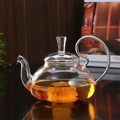 750ml Heat Resistant Elegant Clear Glass Teapot/ Infuser Flower/Green Tea Pot