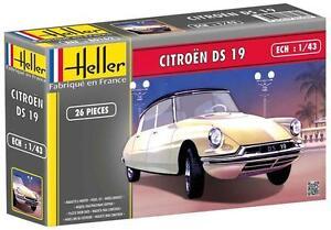Voiture-ancienne-1-43-Heller-80162-Citroen-DS-19