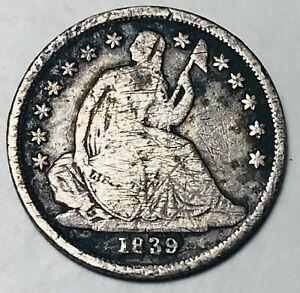 1839 O Seated Liberty Dime 10c No Drapery High Grade Det. US Silver Coin CC4358