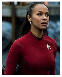 Details About Star Trek Zoe Saldana As Uhura Glossy 8x10 Photo