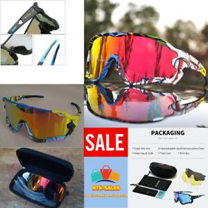 Polarized-Cycling-Glasses-Mountain-Bike-Goggles-Sports-4-LENS-UV400-NEW-2020-UK