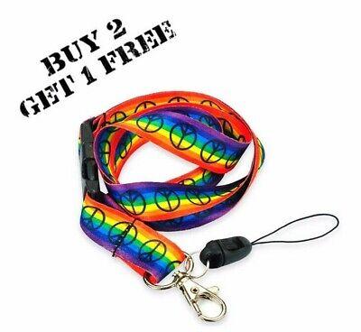 Obbiettivo Pride Arcobaleno Pace Cordino Lgbt Rainbow Unisex Gay Pride Id Distintivo Lesbica-mostra Il Titolo Originale Ultimo Stile