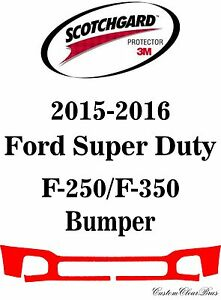 3M-Scotchgard-Paint-Protection-Film-Bra-2015-2016-Ford-Super-Duty-F-250-F-350