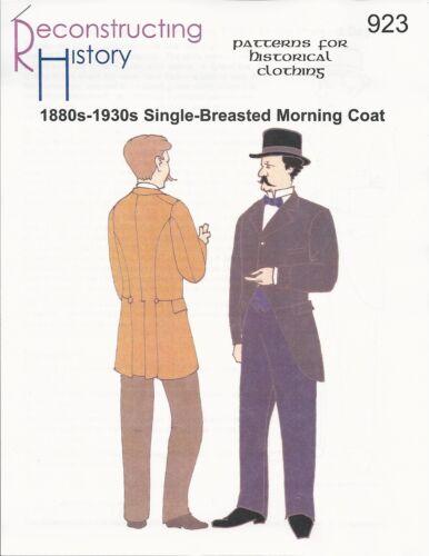 1880s-1930s Morning Coat Schnittmuster RH 923