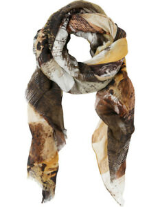NEW-Trent-Nathan-Abstract-Print-Scarf-Khaki