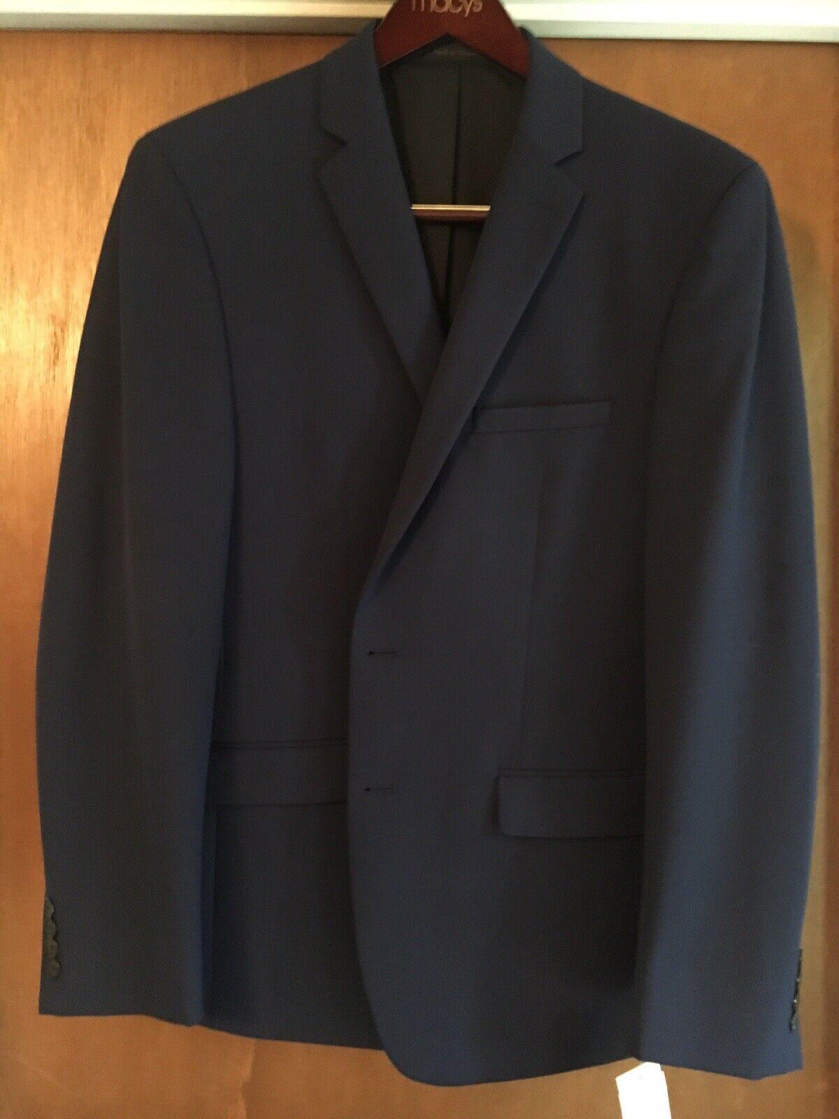 Navy Van Heusen Mens Flex Slim-Fit Sport Coat