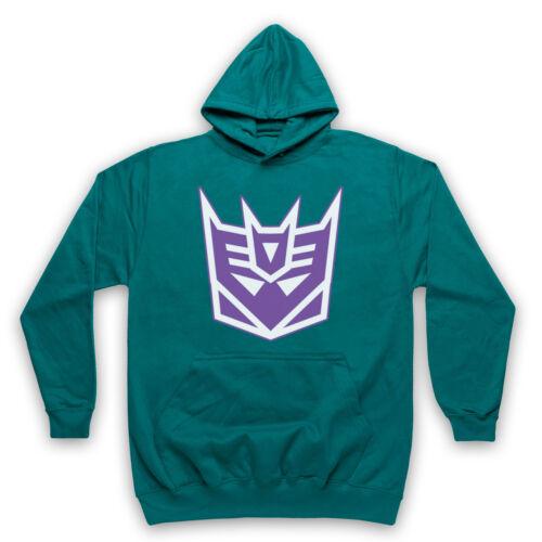 Decepticon Officieux Transformers Logo Cartoon méchant Adultes /& Enfants Sweat à capuche