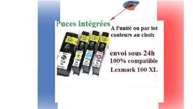 Lot cartouches d'encre compatibles lexmark 100 XL Platinum Pro envoi sous 24H