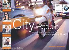BMW C1 Prospekt 2002 City People scooter brochure Motorradprospekt Motorroller