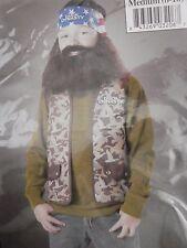 New Duck Dynasty Willie Child Costume Size Medium 8-10  Beard Wig Vest Halloween