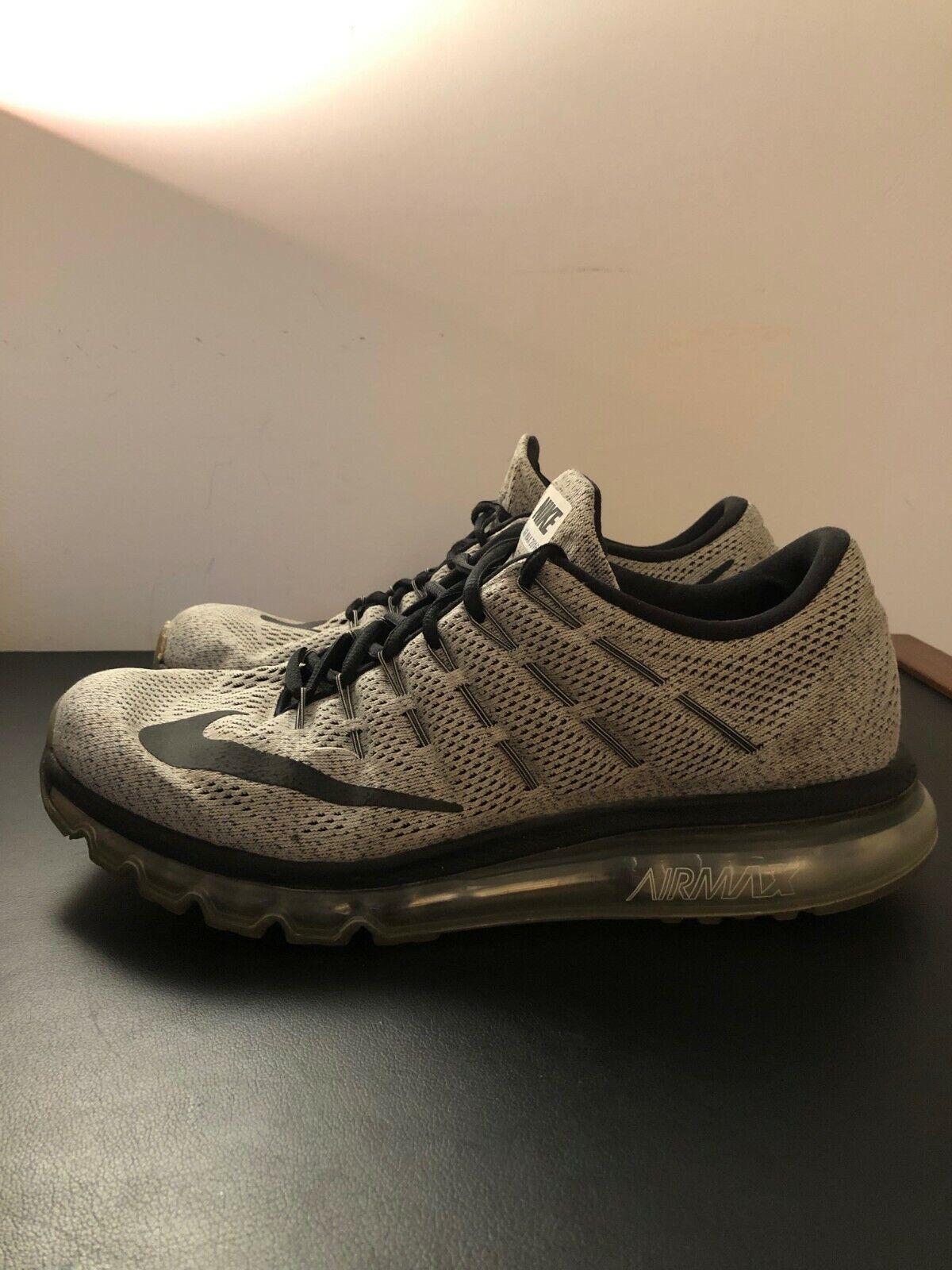 Nike Air Max 2016 Oreo Grey White Black Mens Size 11.5
