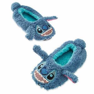 ddd6d0fa Disney Store Lilo & Stitch Boys Girls Soft Slippers Shoes Size 9/10 ...